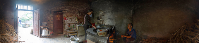 360° kitchen panorama Cooking place