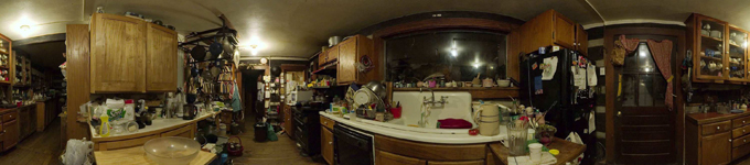 360° kitchen panorama farm kitchen